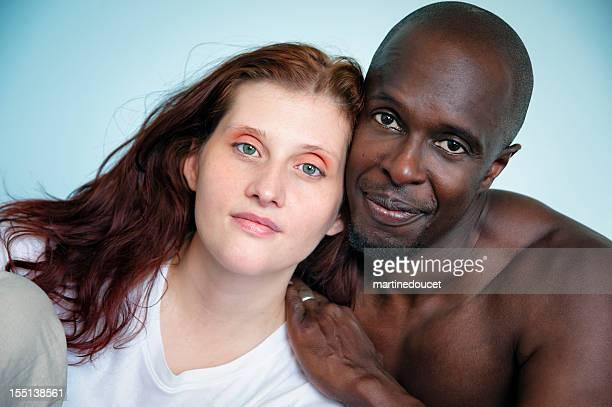 Schwarz und Weiß Paar.
