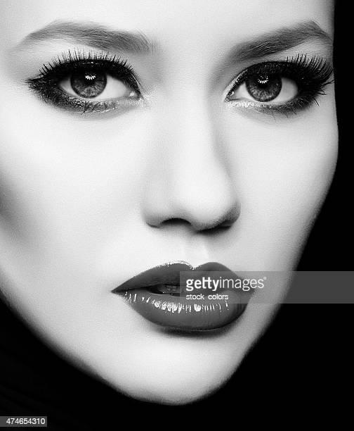 black and white diva portrait