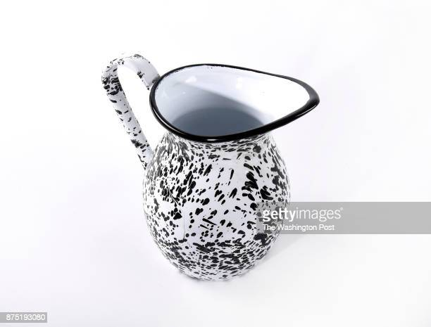 Black and white enamel pitcher from Gin Creek Kitchen one of the items for the Post's annual gift guide on October 2017 in Washington DC