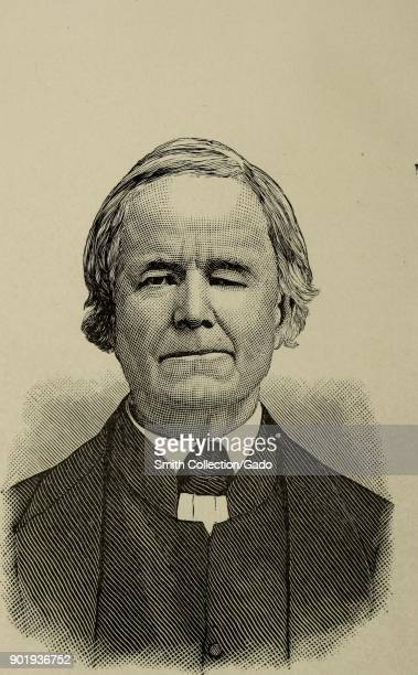 Black and white engraving depicting a headshot of Thomas Whitson a member of the First National AntiSlavery Convention wearing a suit and a serious...