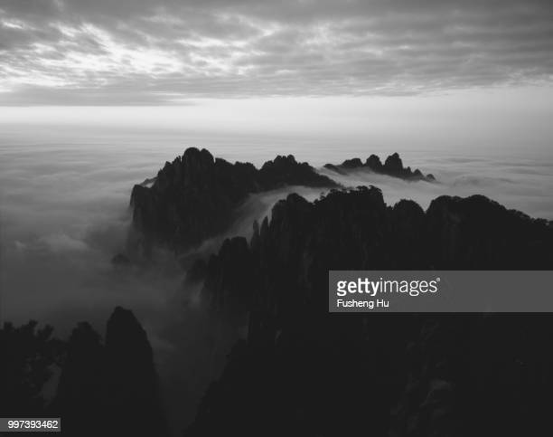 black and white film Huangshan