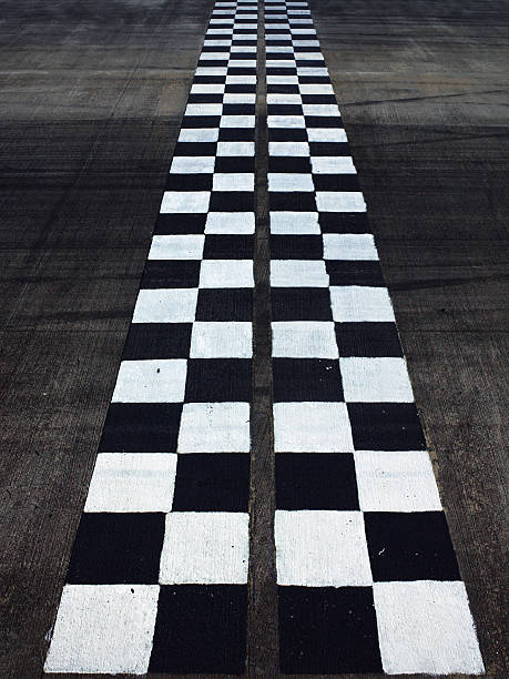 Black And White Finish Line Wall Art