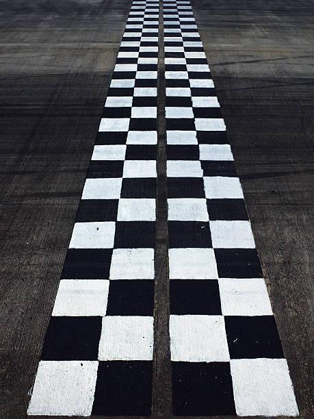 Black and white finish line