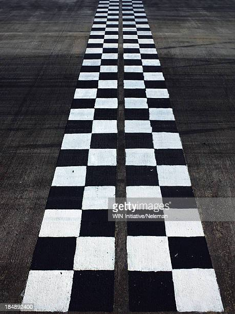 Black and white finish line