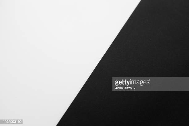 black and white geometric diagonal paper background with copy space. - ツートンカラー ストックフォトと画像