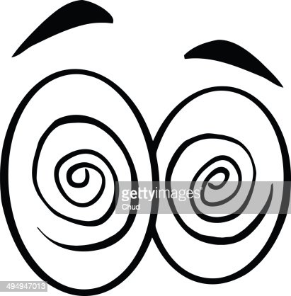 Black And White Hypnotized Cartoon Eyes High Res Stock Photo Getty Images