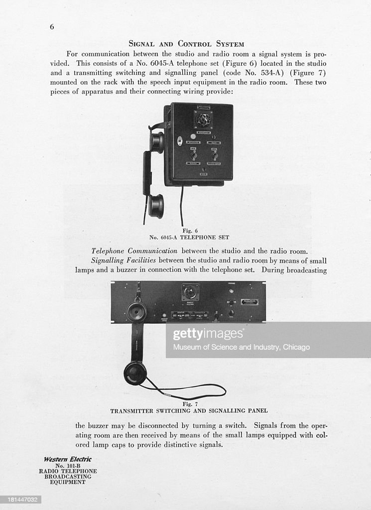 black and white image of a model number 6045a telephone set which is picture id181447032?s=612x612 number 101 b radio telephone equipment stock photos and pictures