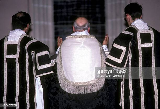 Black And White In France In 1987 A surplice different color for each year of the Mass qu'iil Sounds like preVatican IIa Country Priest Father...