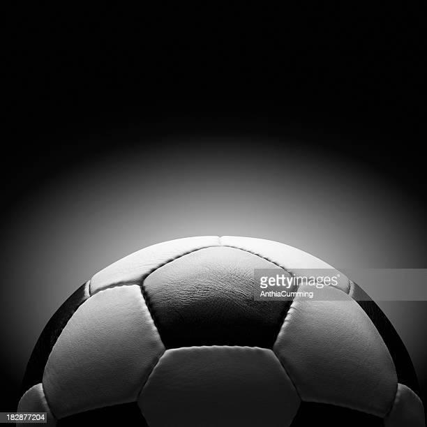 Preto e branco de pele Bola de Futebol