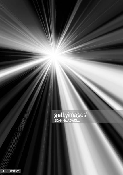 black and white light burst effect - zoom background stock pictures, royalty-free photos & images