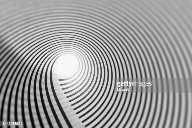 Black and White Lines Swirl Shaped Illusion