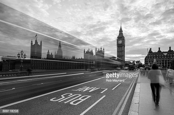 Black and white of the big ben
