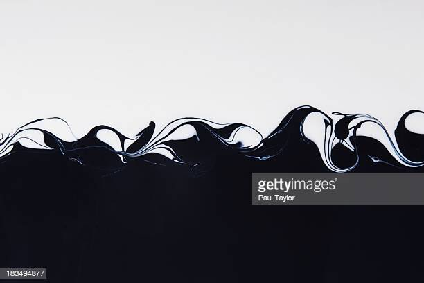 Black and White Paint Mixing