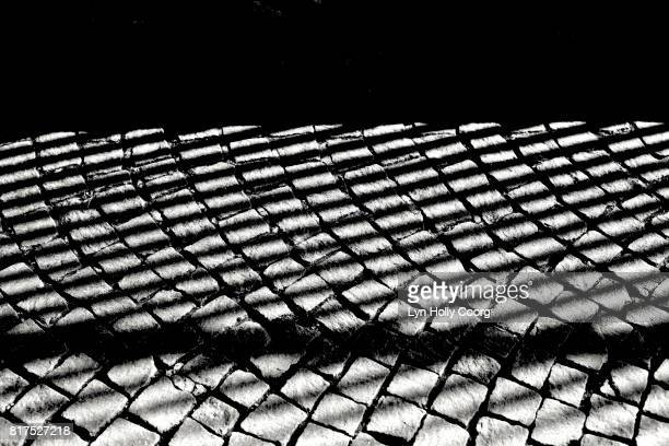 black and white patterns on cobbled street - lyn holly coorg stock pictures, royalty-free photos & images