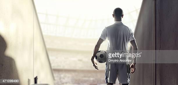 サッカー選手プレーヤーゾーンでのスタジアム