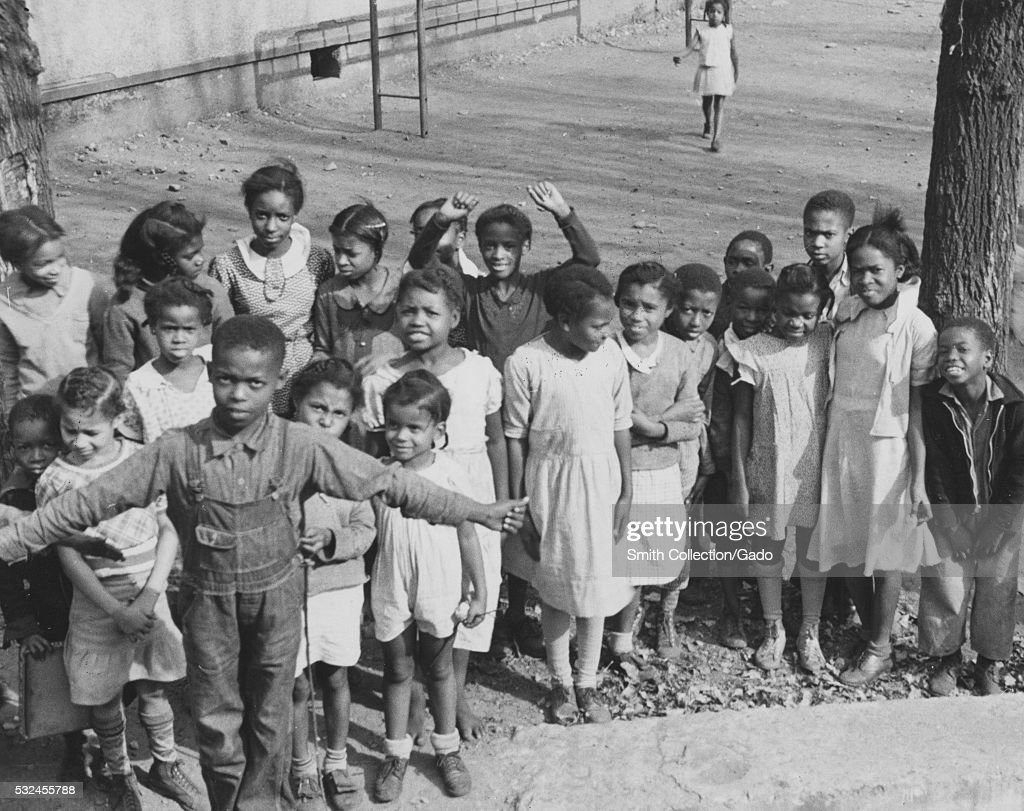 School children at playground news photo