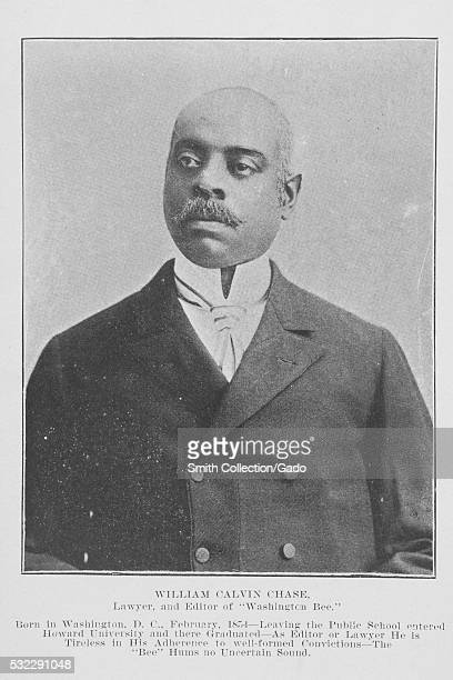 Black and white photograph portrait of William Calvin Chase an AfricanAmerican lawyer and newspaper editor native of Washington DC who attended...