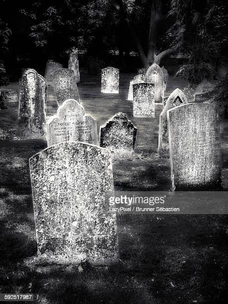 black and white - grabstein stock-fotos und bilder