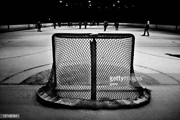 a black and white picture of a hockey arena - ice hockey uniform stock pictures, royalty-free photos & images