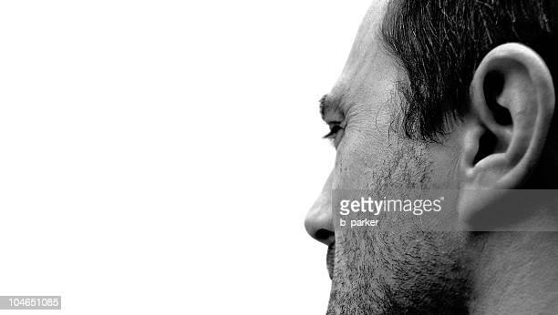 Blanco y negro Retrato de un hombre