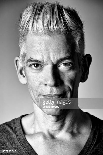 Black and White Portrait of Cool Looking Middle aged Man