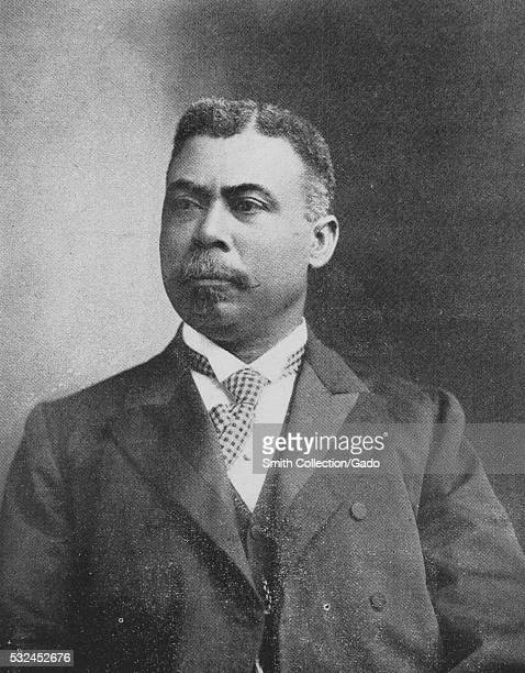 Black and white portrait of Judson W Lyons a graduate of Howard University law who became the first AfricanAmerican attorney in Georgia 1902 From the...