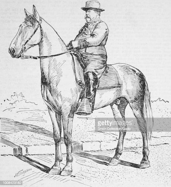 Black and white print illustrating Fitzhugh Lee a General in the Confederate Cavalry and the SpanishAmerican War and the 40th Governor of Virginia...