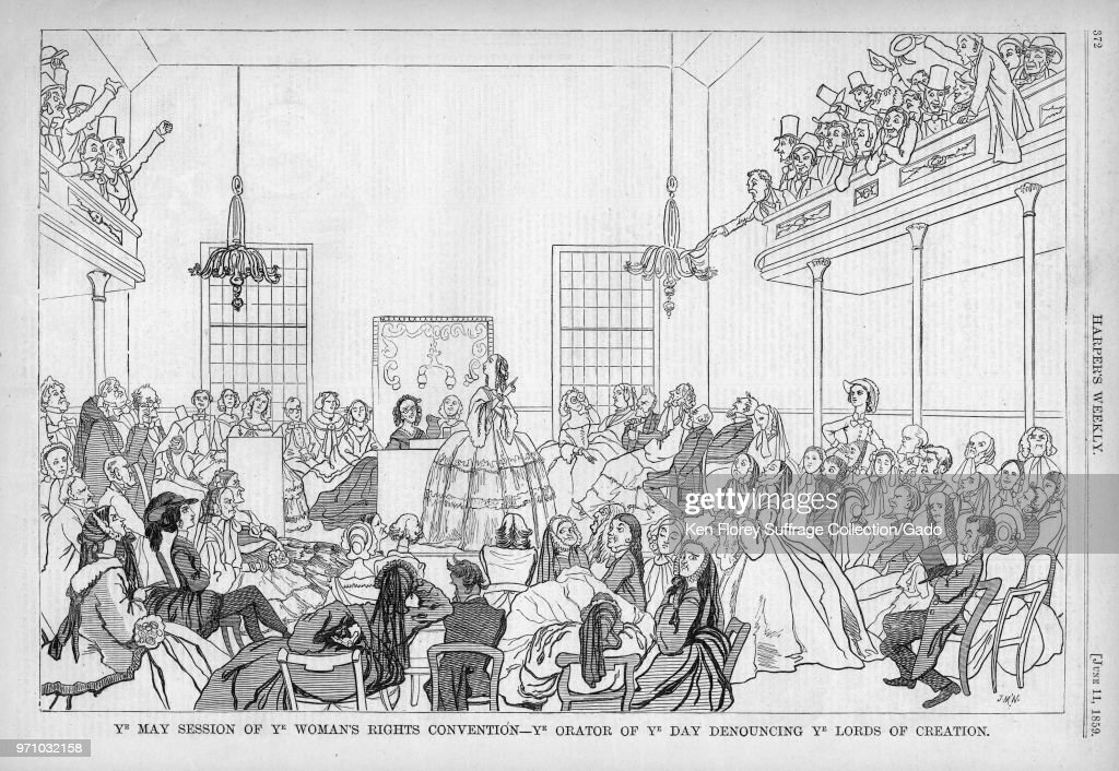 Suffrage Convention Satire : News Photo
