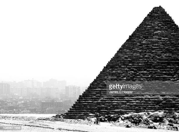 black and white pyramid - international landmark stock pictures, royalty-free photos & images
