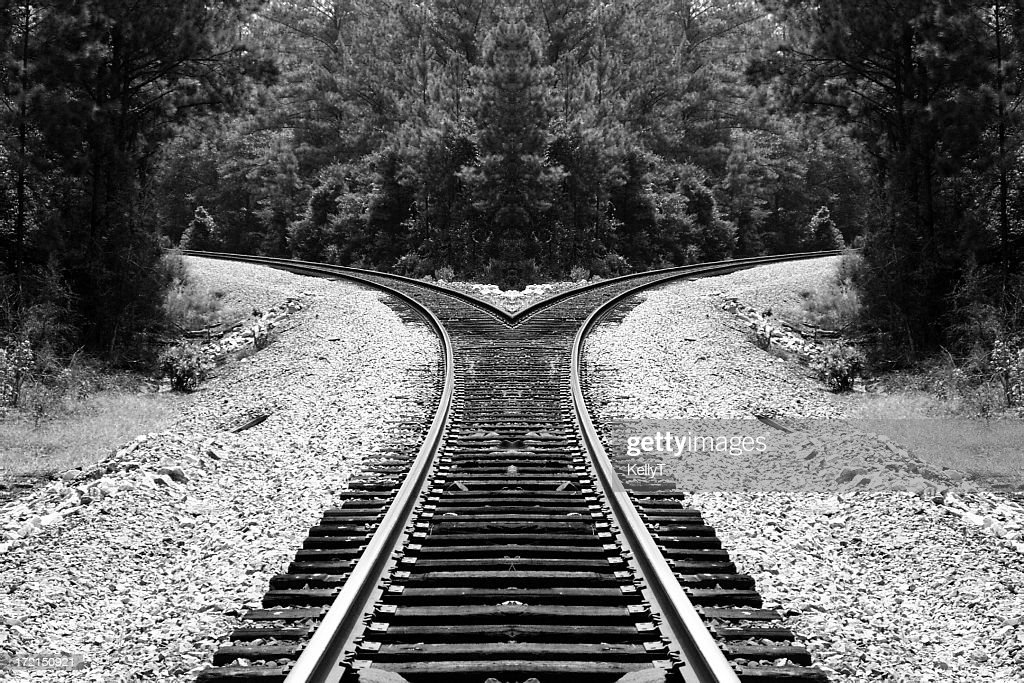Black And White Railroad 11x85 3