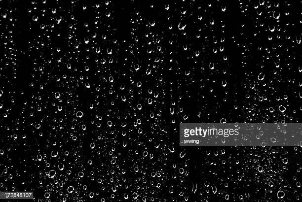 black and white rain - drop stock photos and pictures