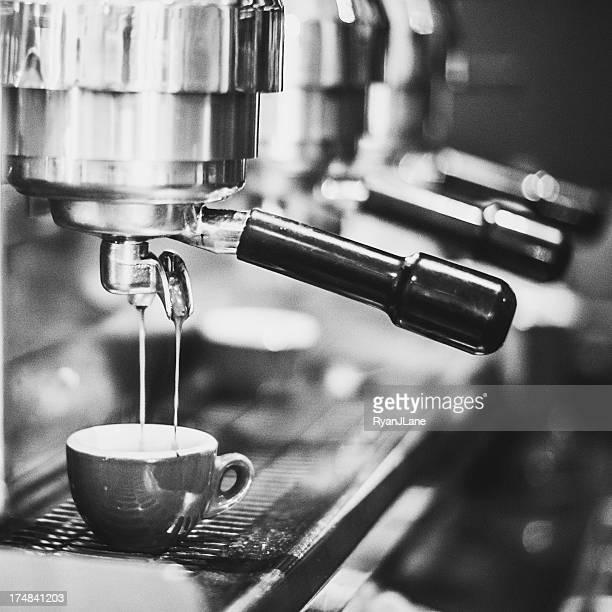 Black and White Shot of Espresso