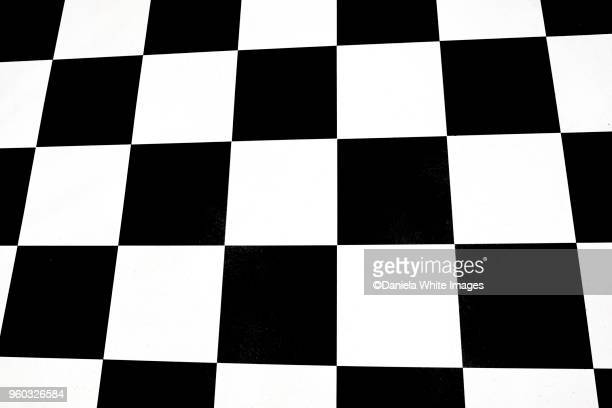 Black and white squares- Abstract