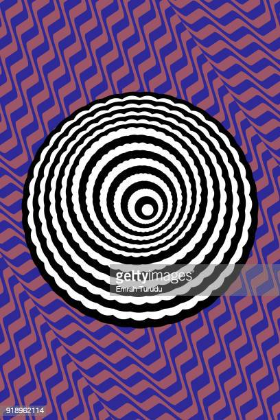 Black and White Stripes Illusion on backgrounds