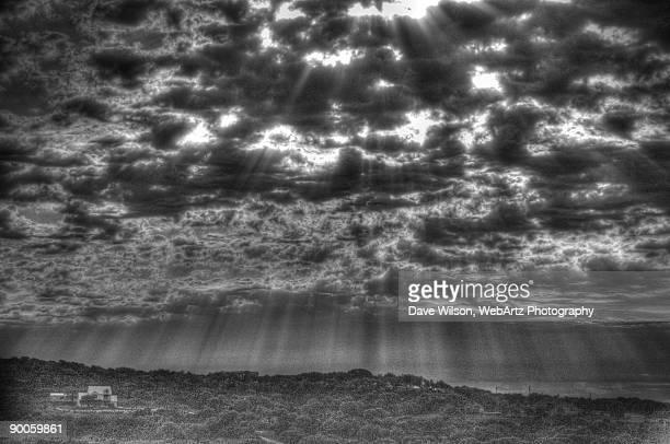 black and white sunburst - dave wilson webartz stock pictures, royalty-free photos & images