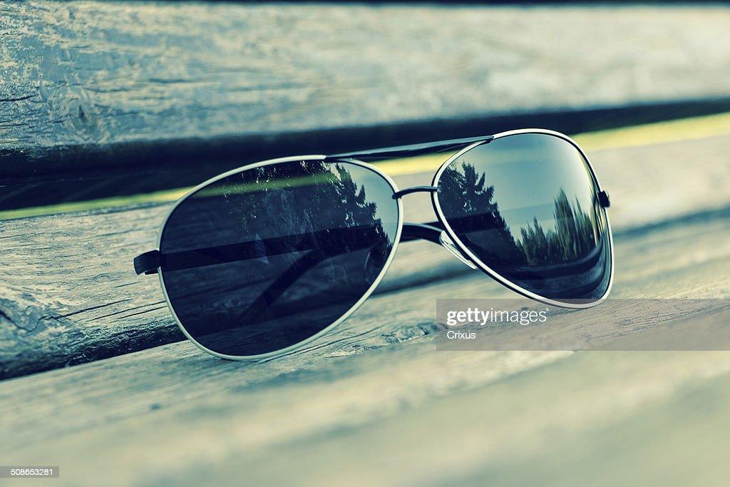 Black and white sunglasses : Stock Photo