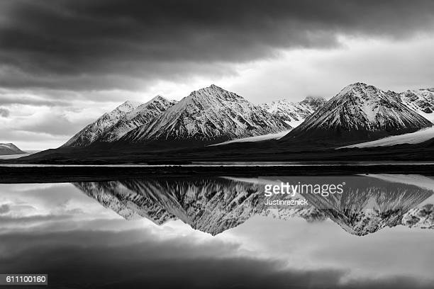 Black and White Svalbard Landscape
