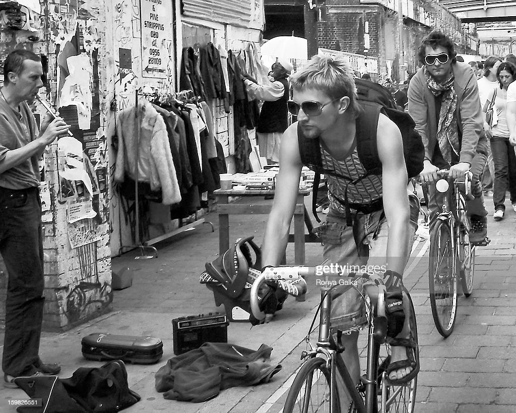 CONTENT] Black and white urban lifestyle photograph taken in London's East End