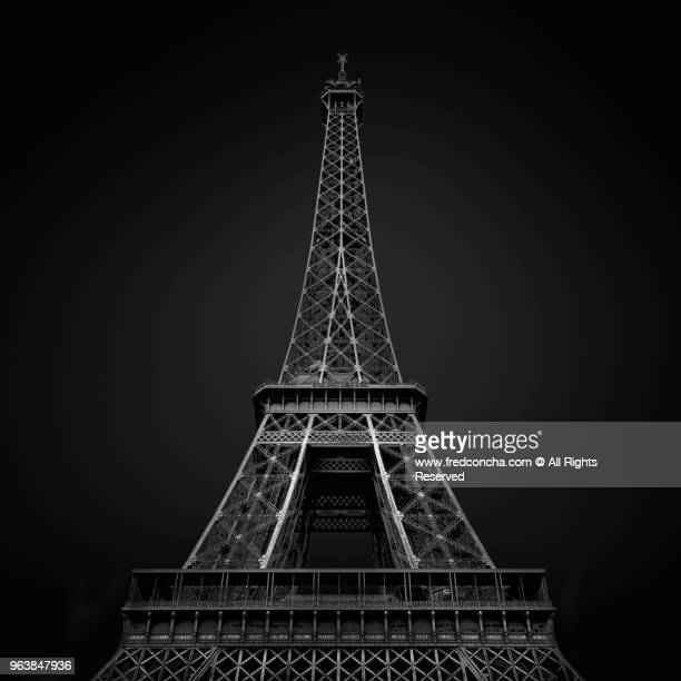 Black and With Eiffel Tower in Paris