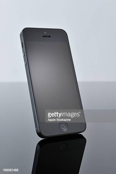 A black Apple iPhone 5 smartphone taken on October 30 2012