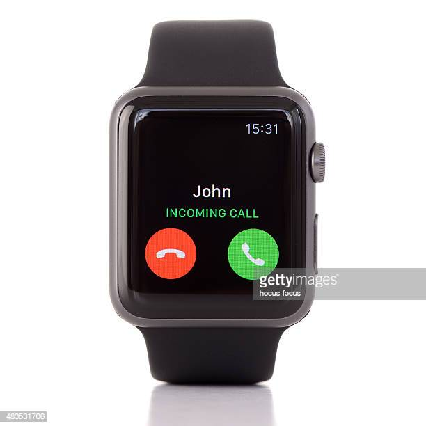 Black Apple Watch Sport on white background