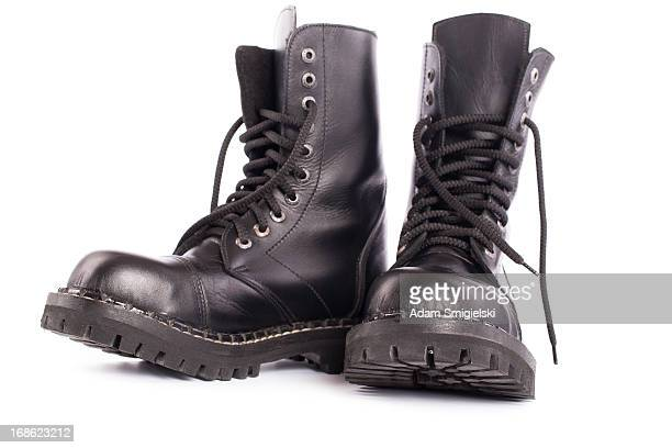 black army shoes - black boot stock pictures, royalty-free photos & images