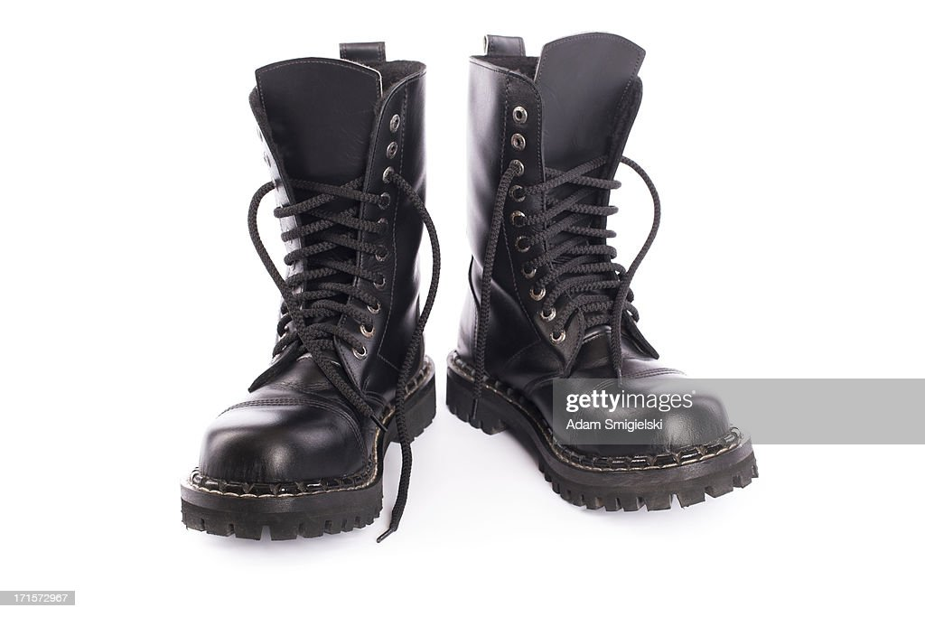 black army shoes : Stock Photo