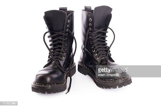 black army shoes - black shoe stock pictures, royalty-free photos & images
