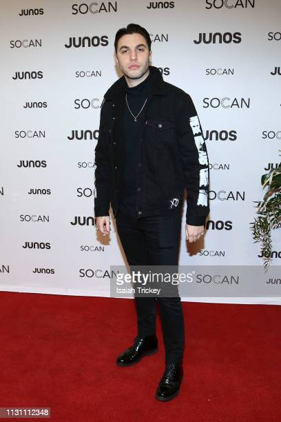 Black Atlass arrives on the red carpet for the 2019 Juno Gala Dinner and Awards at the London Convention Centre on March 16, 2019 in London, Canada.