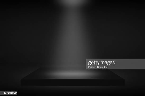 black background, dark stage background - sports round stock pictures, royalty-free photos & images