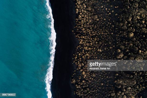 black beach, iceland - beauty in nature stock pictures, royalty-free photos & images