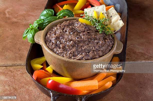 black bean dip -  firak stock pictures, royalty-free photos & images