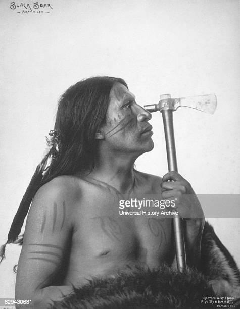 Black Bear Arapahoe Brave Portrait 1900