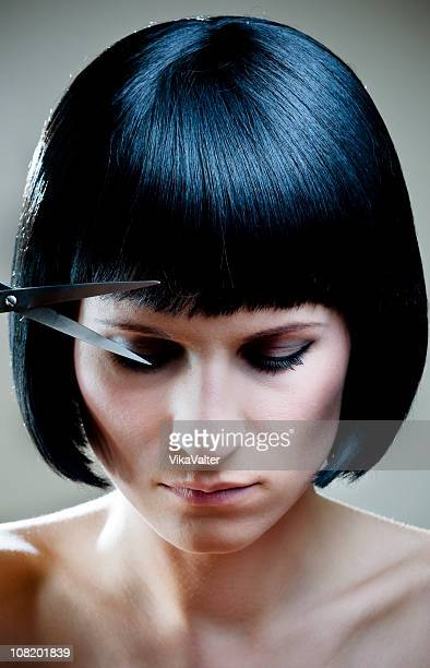 black bob - fringe stock pictures, royalty-free photos & images